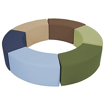 ECR4Kids SoftZone® Ring Around Seating, Earthtone (ELR-12738-ET)