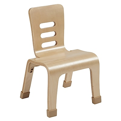 """ECR4Kids 10"""" Bentwood Chair, Natural/2 Pack (ELR-15710-NT)"""