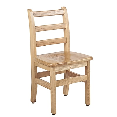 "ECR4Kids 14"" North American Oak Ladderback Chair/2 Pack (ELR-15334)"