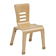 "ECR4Kids 14"" Bentwood Chair, Natural/2 Pack (ELR-15714-NT)"