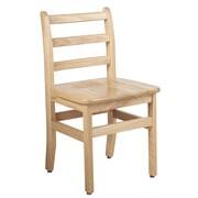 "ECR4Kids 16"" North American Oak Ladderback Chair/2 Pack (ELR-15336)"