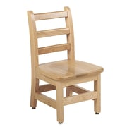 "ECR4Kids 10"" North American Oak Ladderback Chair/2 Pack (ELR-15330)"