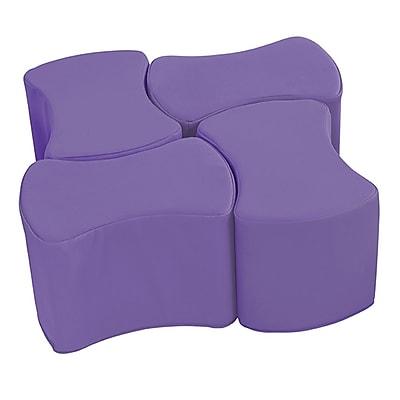 ECR4Kids SoftZone® Butterfly Stool Set, 4-Pack, Purple (ELR-12837-PU)