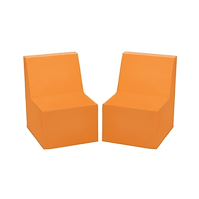 ECR4Kids SoftZone® Toddler Chair, 2-Pack, Orange (ELR-12707-OR)