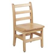"ECR4Kids 12"" North American Oak Ladderback Chair/2 Pack (ELR-15332)"