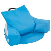 ECR4Kids SoftZone® Relax-N-Read Bean Bag Chair, French Blue/Light Grey (ELR-12801-FBLG)