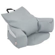 ECR4Kids SoftZone® Relax-N-Read Bean Bag Chair, Grey/Light Grey (ELR-12801-GYLG)