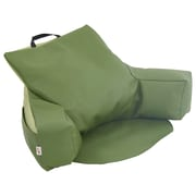 ECR4Kids SoftZone® Relax-N-Read Bean Bag Chair, Hunter Green/Fern Green (ELR-12801-HGFG)
