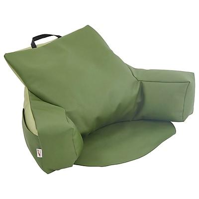 ECR4Kids SoftZone® Relax-N-Read Bean Bag Chair, Hunter Green/Fern Green (ELR-12801-HGFG)