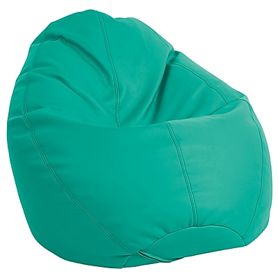 ECR4Kids SoftZone® Dew Drop Bean Bag Chair, Emerald (ELR-12802-EM)