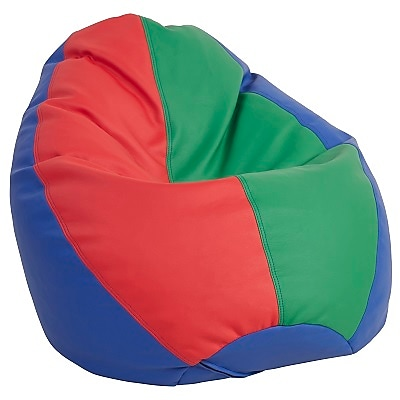 ECR4Kids SoftZone® Dew Drop Bean Bag Chair, Primary (ELR-12802-AS)