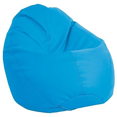 ECR4Kids SoftZone® Dew Drop Bean Bag Chair, French Blue (ELR-12802-FB)