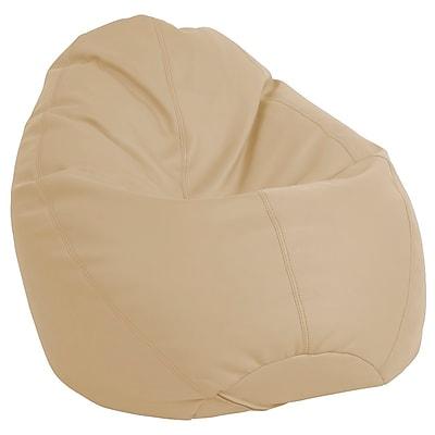 ECR4Kids SoftZone® Dew Drop Bean Bag Chair, Sand (ELR-12802-SD)