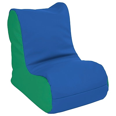 ECR4Kids SoftZone® Toddler Bean Bag Soft Seat, Blue/Green (ELR-15660-BLGN)