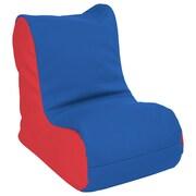 ECR4Kids SoftZone® Toddler Bean Bag Soft Seat, Blue/Red (ELR-15660-BLRD)