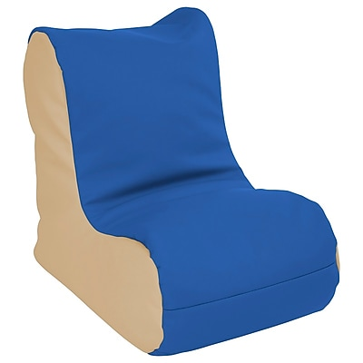 ECR4Kids SoftZone® Toddler Bean Bag Soft Seat, Blue/Sand (ELR-15660-BLSD)