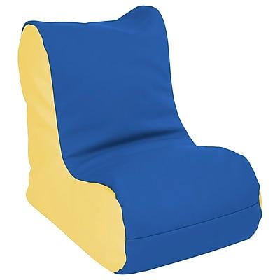 ECR4Kids SoftZone® Toddler Bean Bag Soft Seat, Blue/Yellow (ELR-15660-BLYE)