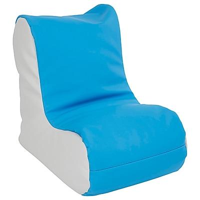 ECR4Kids SoftZone® Toddler Bean Bag Soft Seat, French Blue/Light Grey (ELR-15660-FBLG)