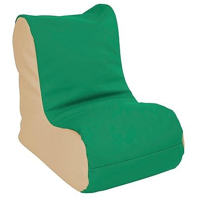 ECR4Kids SoftZone® Toddler Bean Bag Soft Seat, Green/Sand (ELR-15660-GNSD)