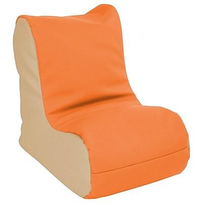 ECR4Kids SoftZone® Toddler Bean Bag Soft Seat, Orange/Sand (ELR-15660-ORSD)