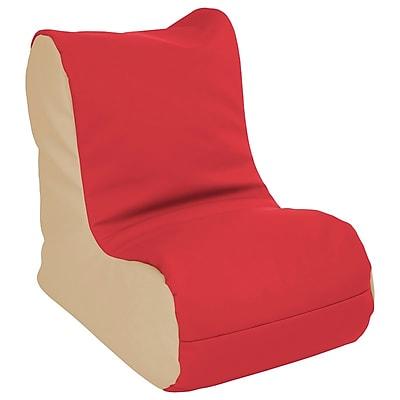 ECR4Kids SoftZone® Toddler Bean Bag Soft Seat, Red/Sand (ELR-15660-RDSD)