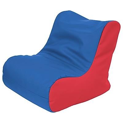 ECR4Kids SoftZone® Youth Bean Bag Soft Seat, Blue/Red (ELR-15661-BLRD)