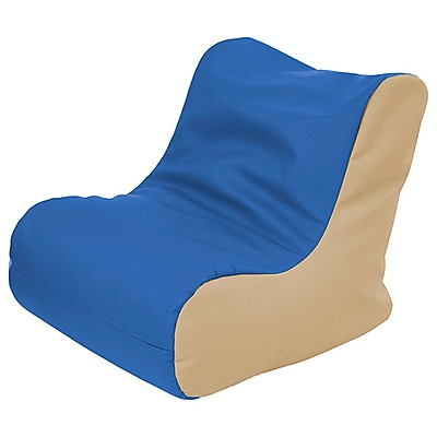ECR4Kids SoftZone® Youth Bean Bag Soft Seat, Blue/Sand (ELR-15661-BLSD)