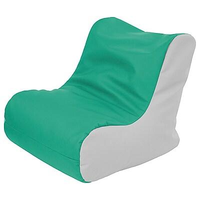 ECR4Kids SoftZone® Youth Bean Bag Soft Seat, Emerald/Light Grey (ELR-15661-EMLG)