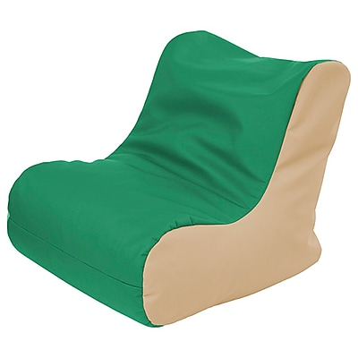 ECR4Kids SoftZone® Youth Bean Bag Soft Seat, Green/Sand (ELR-15661-GNSD)