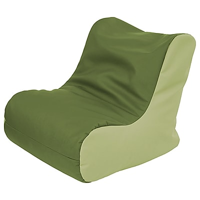 ECR4Kids SoftZone® Youth Bean Bag Soft Seat, Hunter Green/Fern Green (ELR-15661-HGFG)