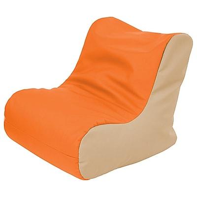 ECR4Kids SoftZone® Youth Bean Bag Soft Seat, Orange/Sand (ELR-15661-ORSD)