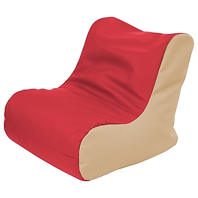 ECR4Kids SoftZone® Youth Bean Bag Soft Seat, Red/Sand (ELR-15661-RDSD)