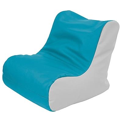 ECR4Kids SoftZone® Youth Bean Bag Soft Seat, Seafoam/Light Grey (ELR-15661-SFLG)