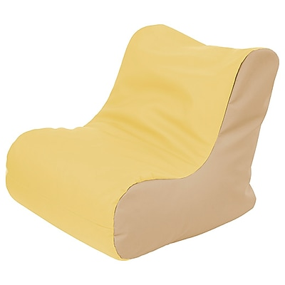 ECR4Kids SoftZone® Youth Bean Bag Soft Seat, Yellow Sand (ELR-15661-YESD)