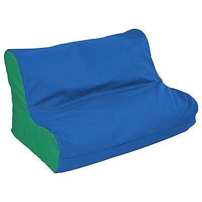 ECR4Kids SoftZone® Twin Youth Bean Bag Soft Seat, Blue/Green (ELR-15662-BLGN)
