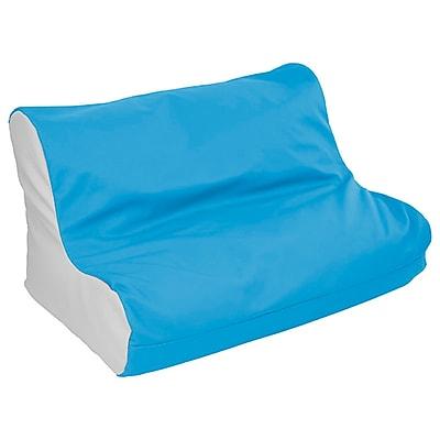 ECR4Kids SoftZone® Twin Youth Bean Bag Soft Seat, French Blue/Light Grey (ELR-15662-FBLG)