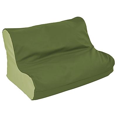 ECR4Kids SoftZone® Twin Youth Bean Bag Soft Seat, Hunter Green/Fern Green (ELR-15662-HGFG)