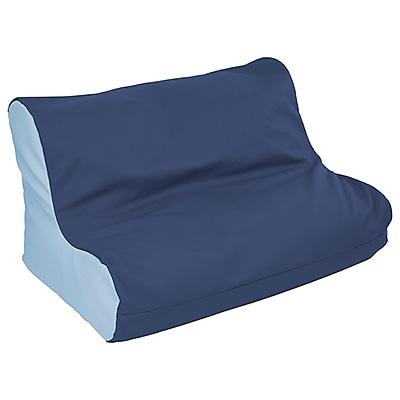 ECR4Kids SoftZone® Twin Youth Bean Bag Soft Seat, Navy/Powder Blue (ELR-15662-NVPB)