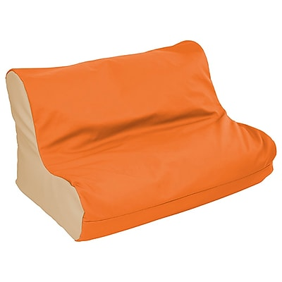 ECR4Kids SoftZone® Twin Youth Bean Bag Soft Seat, Orange/Sand (ELR-15662-ORSD)