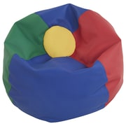 "ECR4Kids SoftZone® 35"" Standard Classic Bean Bag, Primary (ELR-12835-AS)"