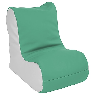 ECR4Kids SoftZone® Toddler Bean Bag Soft Seat, Emerald/Light Grey (ELR-15660-EMLG)