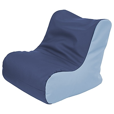 ECR4Kids SoftZone® Youth Bean Bag Soft Seat, Navy/Powder Blue (ELR-15661-NVPB)