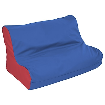 ECR4Kids SoftZone® Twin Youth Bean Bag Soft Seat, Blue/Red (ELR-15662-BLRD)