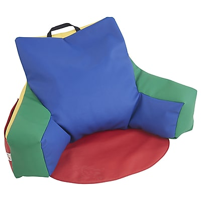 ECR4Kids SoftZone® Relax-N-Read Bean Bag Chair, Primary (ELR-12801-AS)