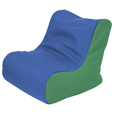 ECR4Kids SoftZone® Youth Bean Bag Soft Seat, Blue/Green (ELR-15661-BLGN)