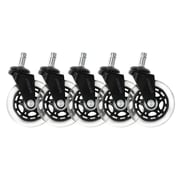 Lifelong Office Chair Casters Replacement Chair Wheels, Rollerblade Style, 5/Set (BL2374)