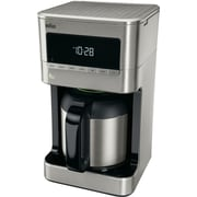 Braun Brew Sense 10-Cup Drip Coffee Maker with Thermal Carafe in Stainless Steel (KF7175S1)