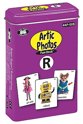 Super Duper Publications Articulation Photos Fun Deck, R Sounds, New Color Photos, Tin (AP02B)