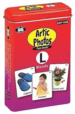 Super Duper Publications Articulation Photos Fun Deck, L Blends Sounds, New Color Photos, Tin (AP06B)