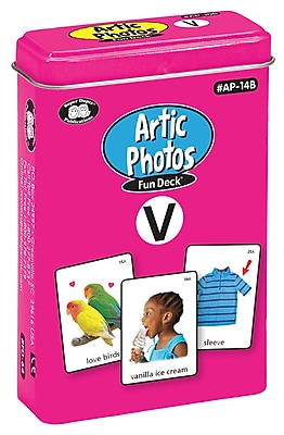 Super Duper Publications Articulation Photos Fun Deck, V Sound, New Color Photos, Tin (AP14B)